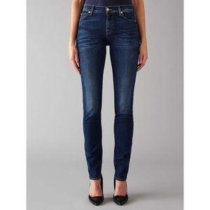 7FAM Roxanne Jeans Skinny Leg Dark Wash Denim 27
